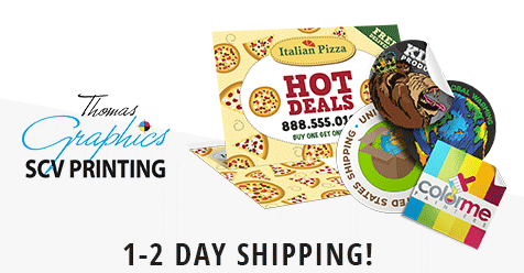 Free Local Delivery for Orders over $150! | SCV Printing – Thomas Graphics