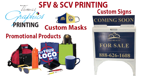 Signs, Masks, Promo Products | Thomas Graphics SFV – SCV Printing